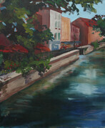 French Canal Diptych Panel One